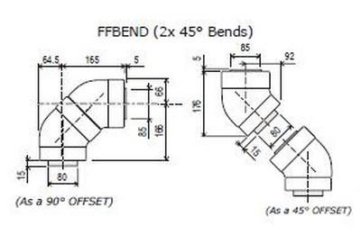 Rinnai Universal 45/90 Degree Bend