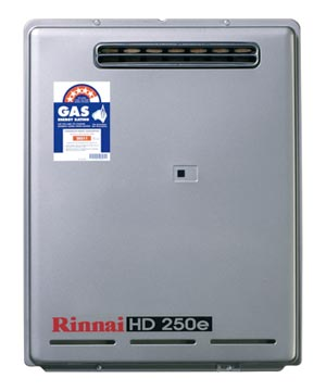 Rinnai HD250N75 Heavy Duty 250E Continuous Flow 75 Degree